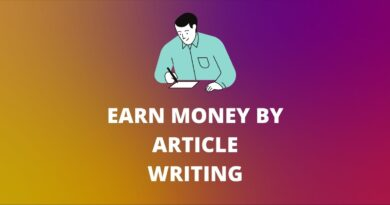 EARN MONEY BY ARTICLE WRITING