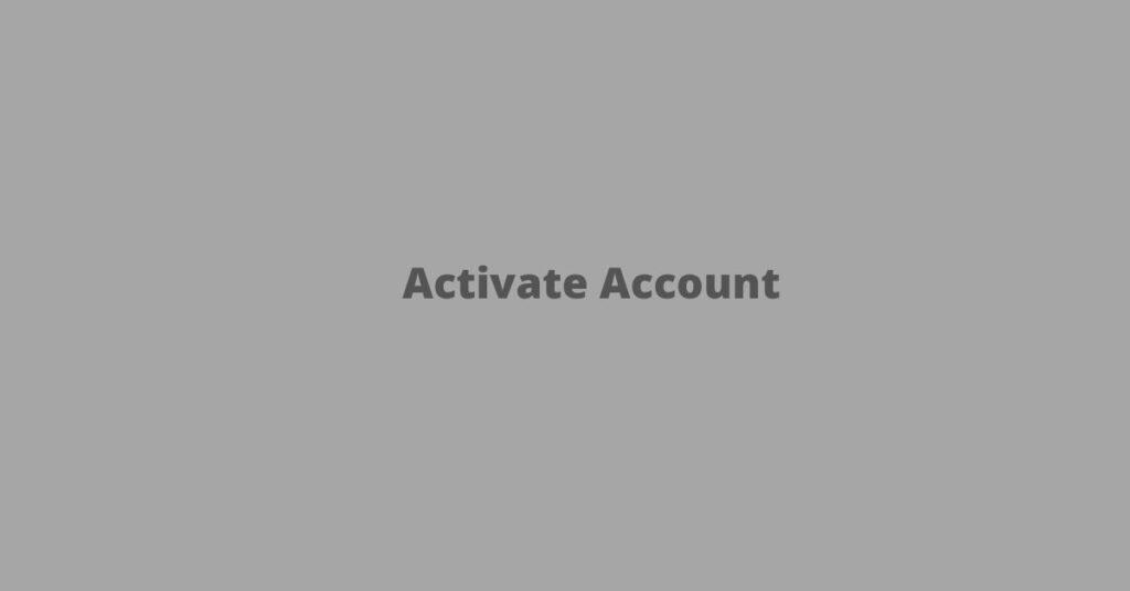 Activate Account